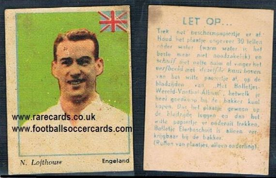 1954 WC54 Wereld Voetbal transfer Nat Lofthouse Bolton Wanderers England